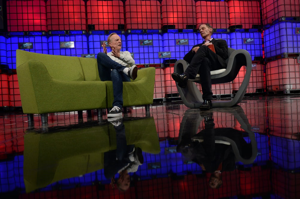 Former Apple CEO John Sculley in conversation at the Web Summit, Dublin