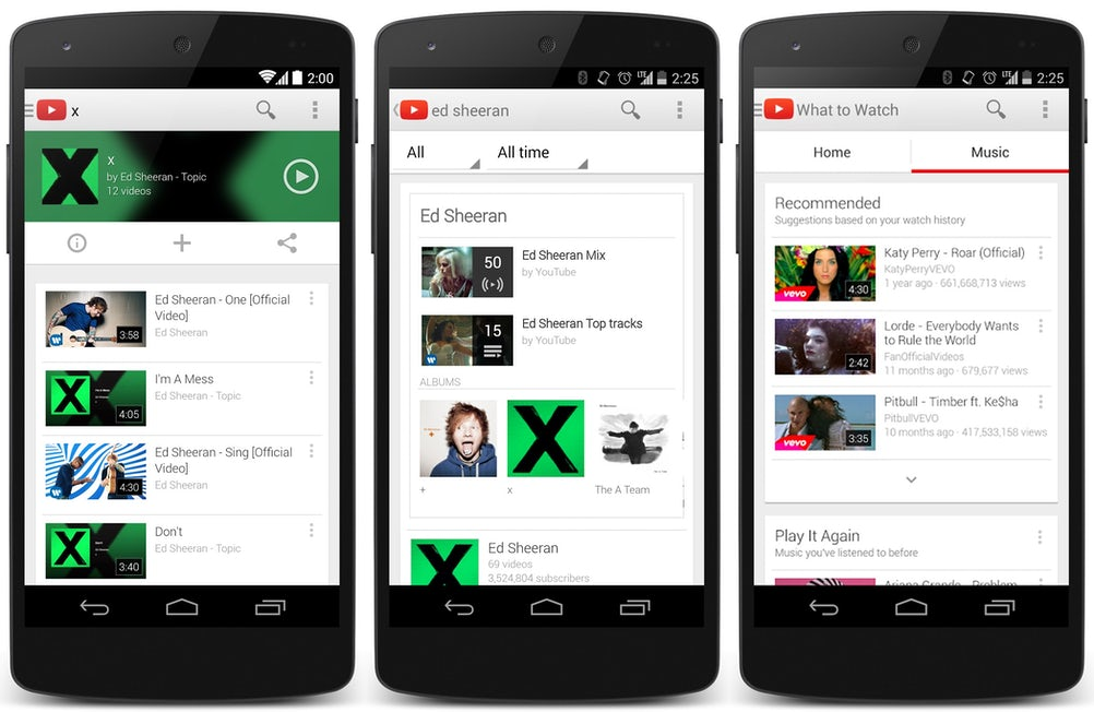 The paid-for service will let people download songs from YouTube to their devices and play them in the background while they use other apps.