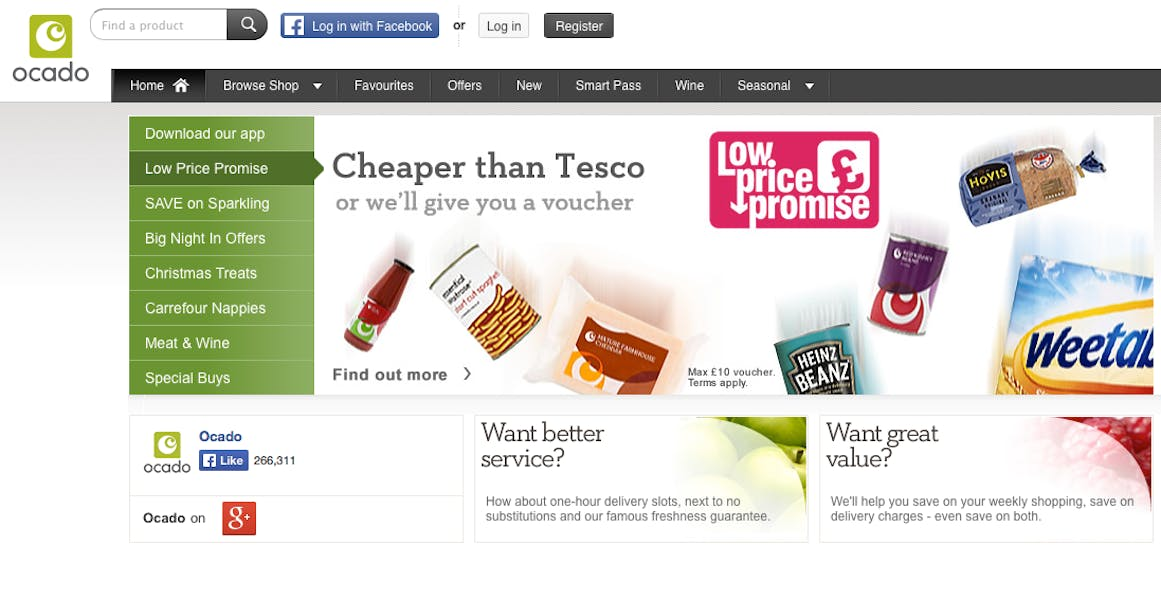 ocado website 2014