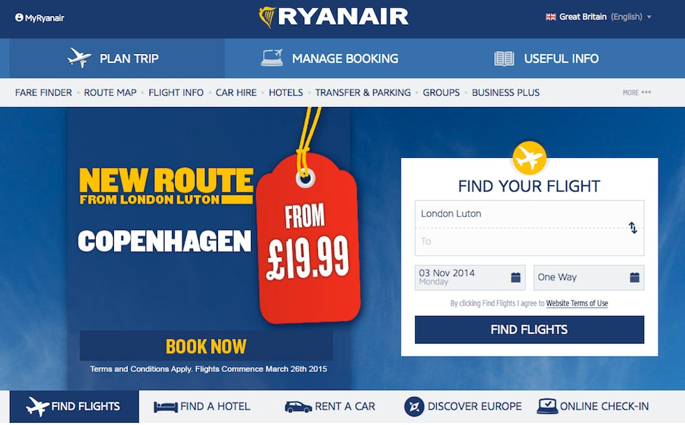 Ryanair is looking to make its website a one-stop-shop for travel