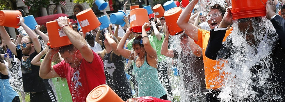 The Ice Bucket Challenge campaign went viral, helping MacMillan and the Motor Neurone Disease Association raise millions.