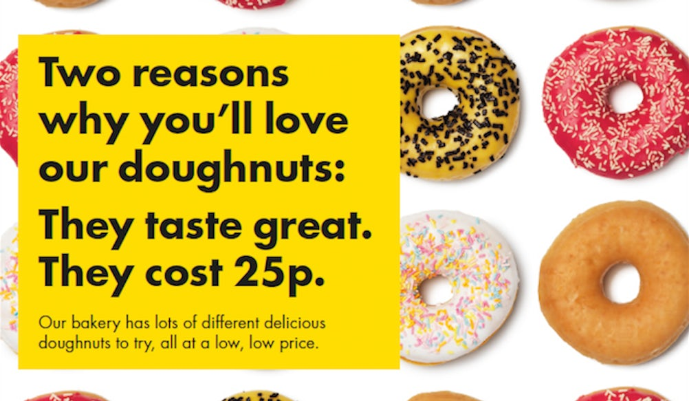 An ad for Netto doughnuts
