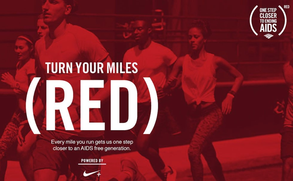 For every mile run using the Nike+ Running app, Bank of America will donate 40 cents