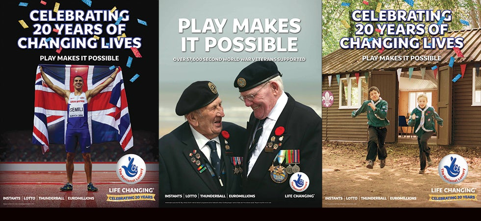 National lottery ads
