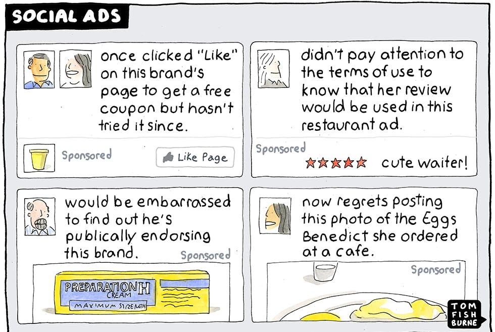 Social Ads, Marketoonist 14/1/15