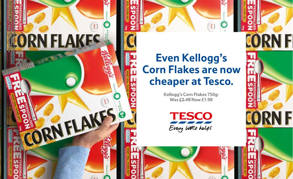 Tesco price cut Kellogs