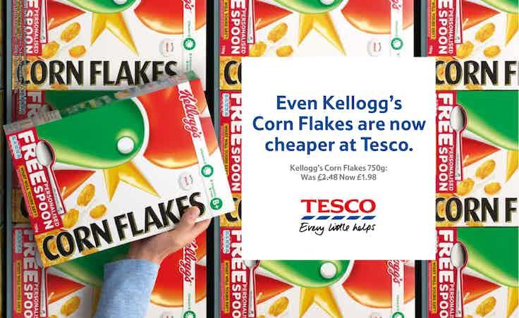 Tesco price cut Kellogs
