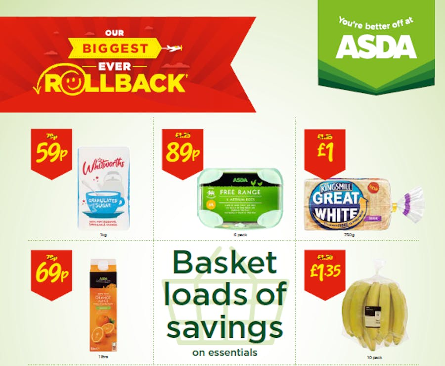 asda biggest ever rollback campaign