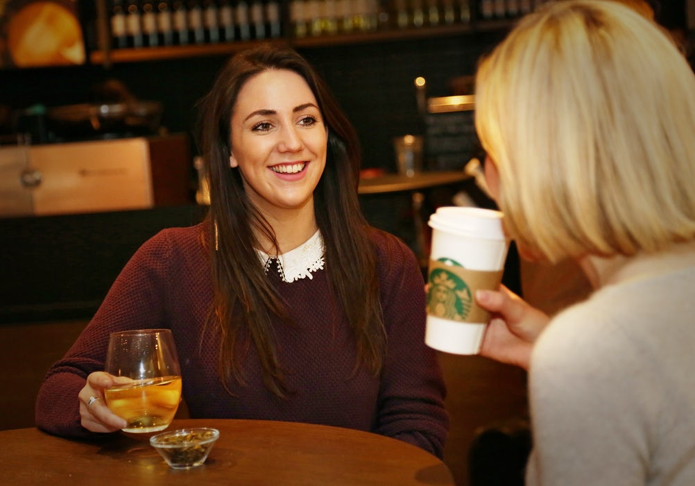 In the long term, Starbucks hopes people will go for after-work drinks at its coffee houses