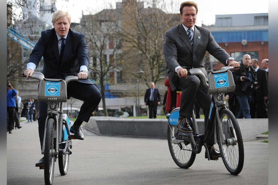 Terminator 4 featuring Boris Johnson and Arnold Schwarzenegger