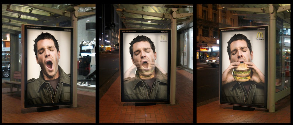 Winning idea from the Ideas Foundation project for invisible adverts
