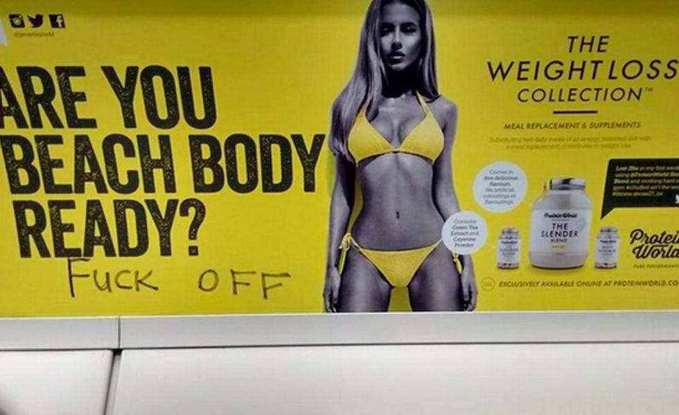 Beach body poster