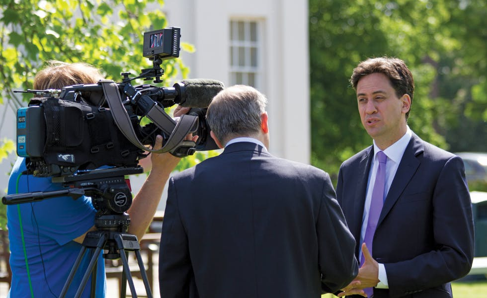 Ed Milliband campaign trail