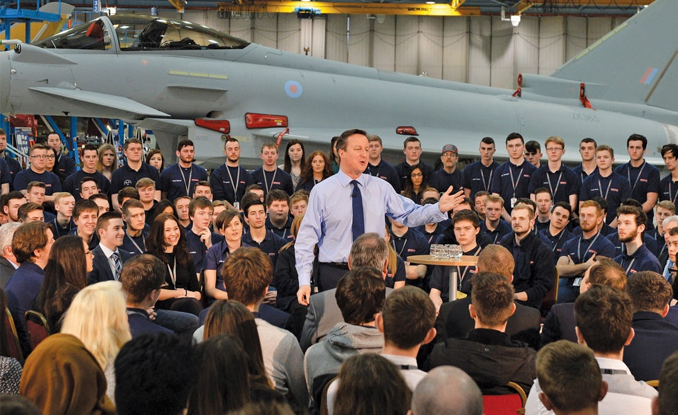 David Cameron campaign trail