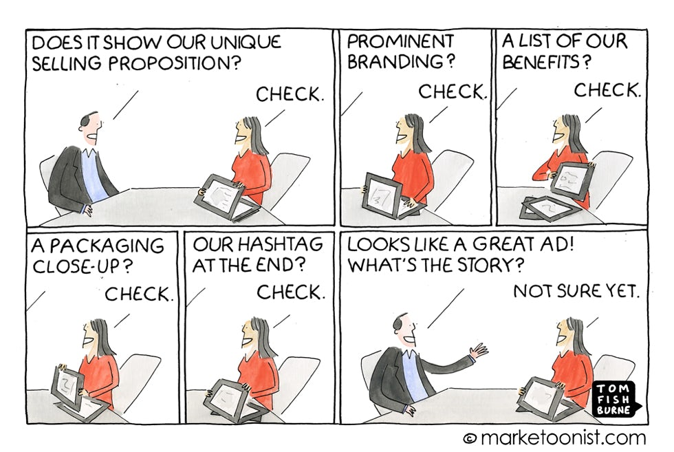 Marketoonist 20 5 15 The ad checklist