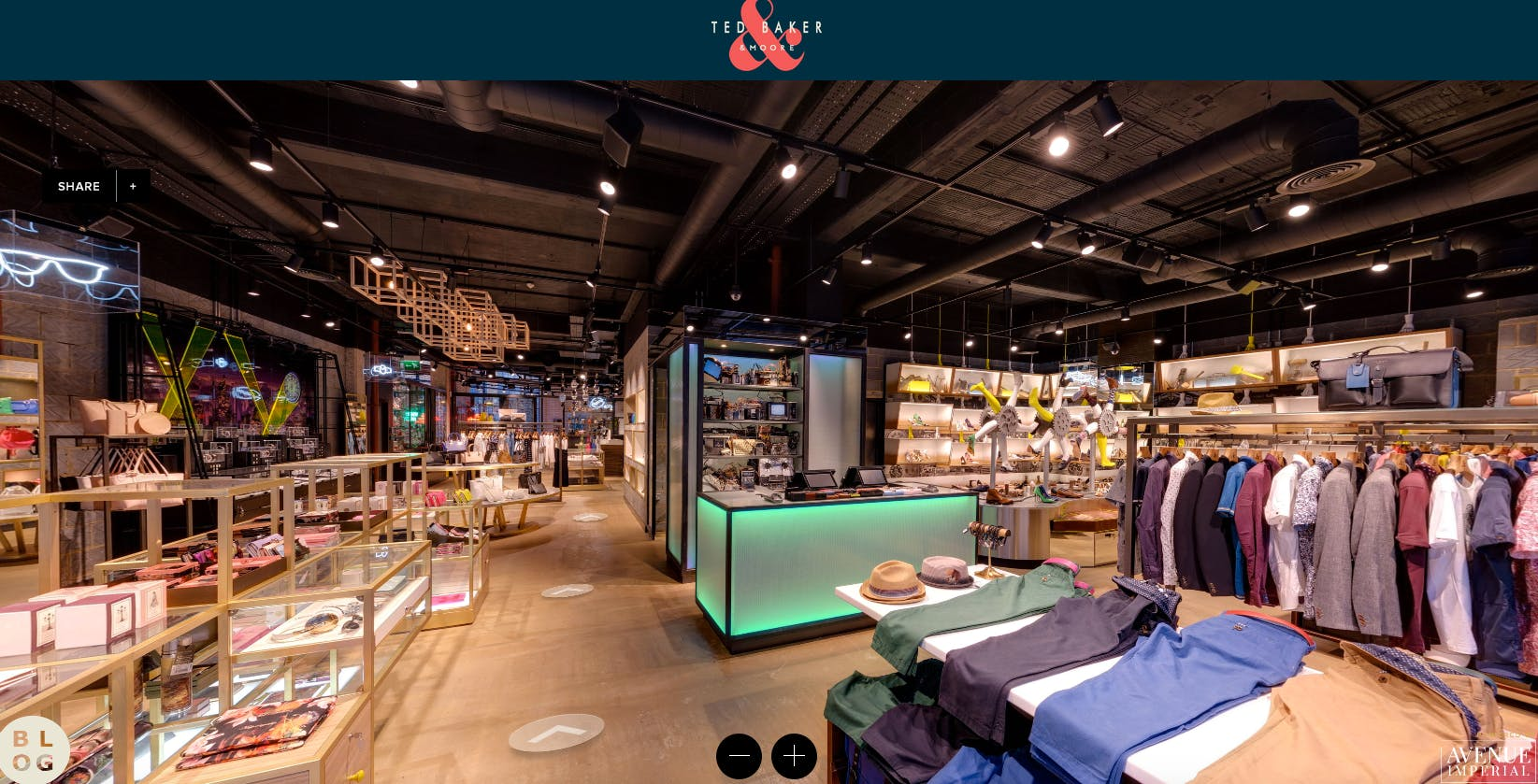 063e8ff03e9274 Ted Baker unveils virtual  first  as it digitises its Shoreditch store
