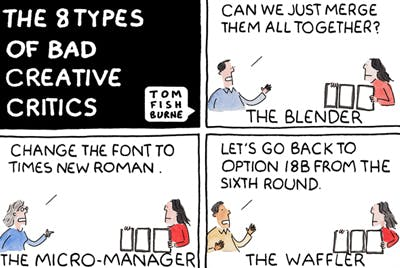 The 8 types of bad creative critics