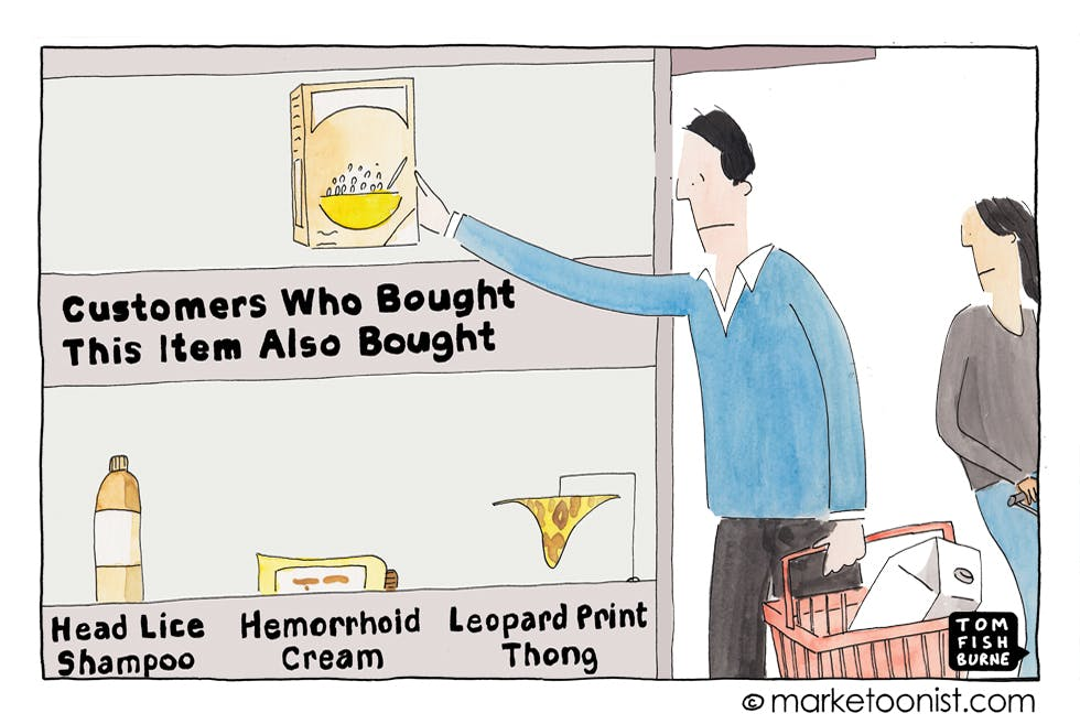 The future of shopping Marketoonist 16 7 15