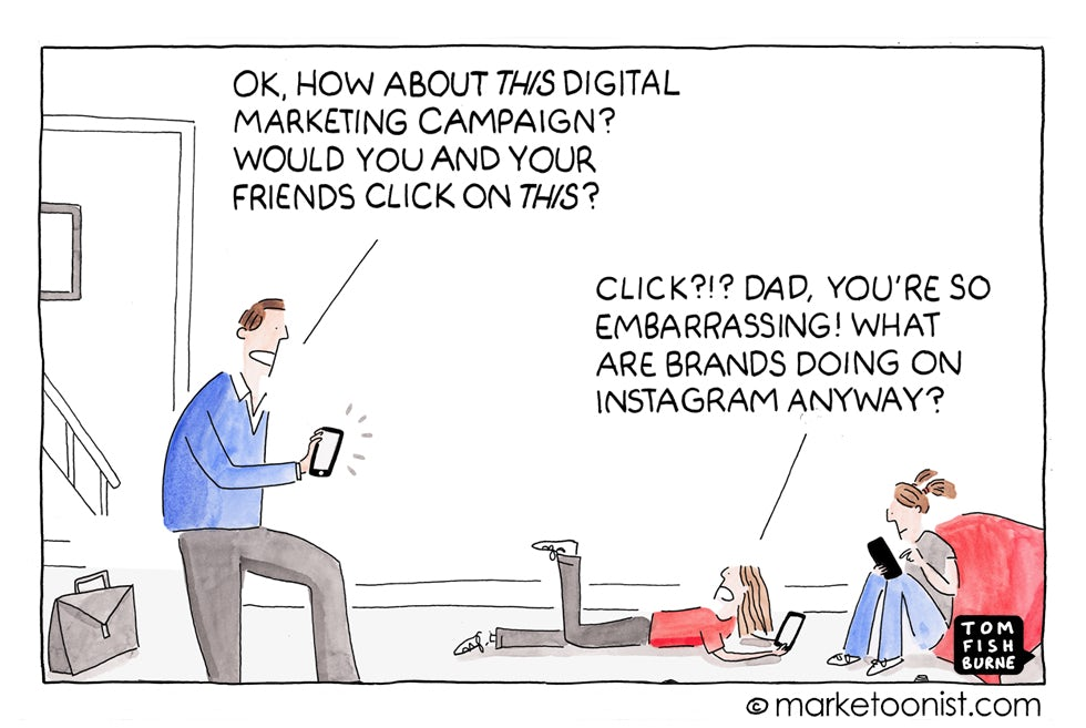 Marketoonist 12 August 15 Brands on Instagram