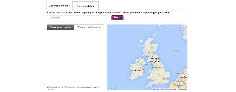 Vodafone signal map