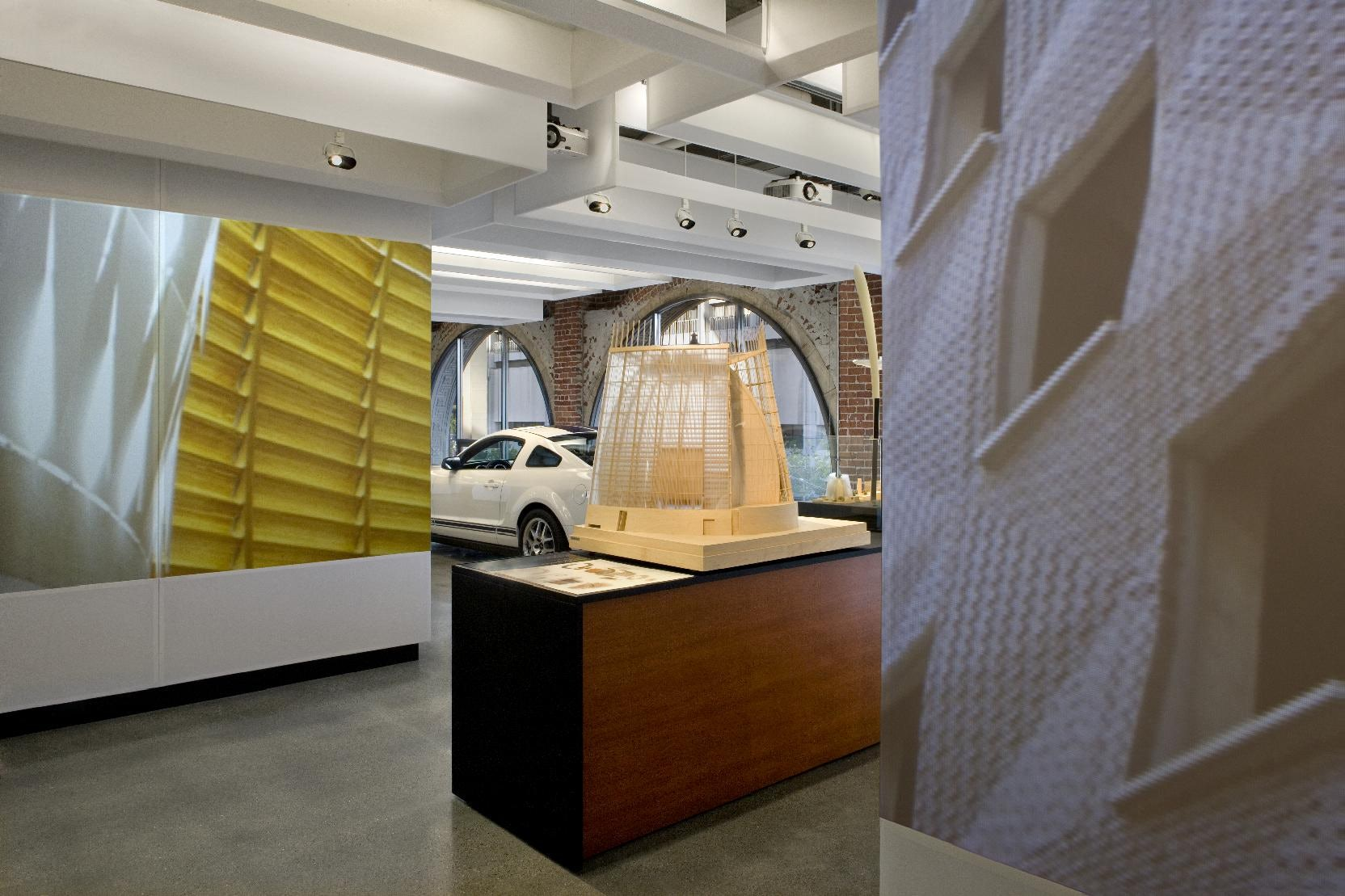 Autodesk's head office features various exhibits of 3D design in action