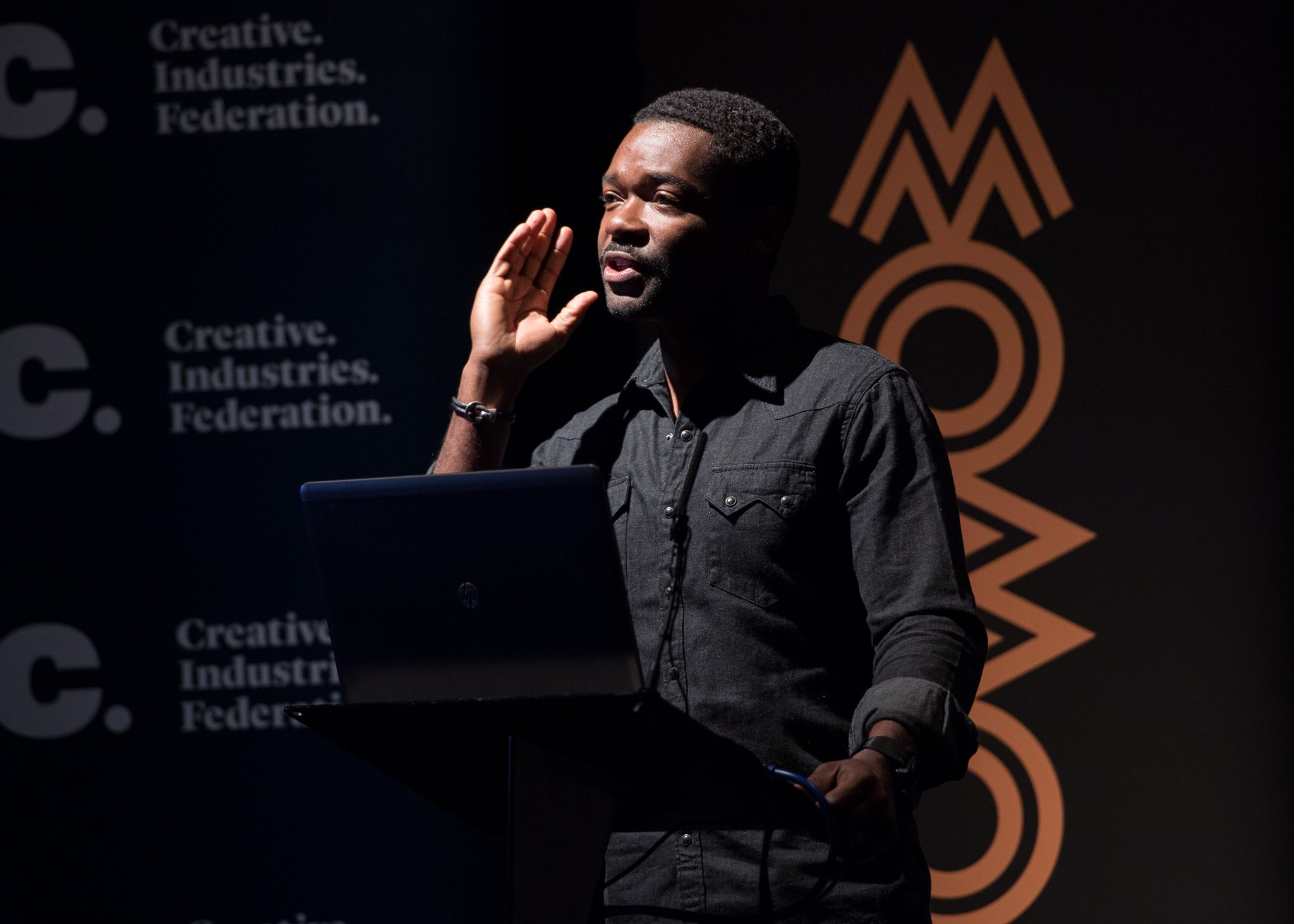 Actor David Oyelowo speaks at MOBO and CIF's event on diversity in the creative industries