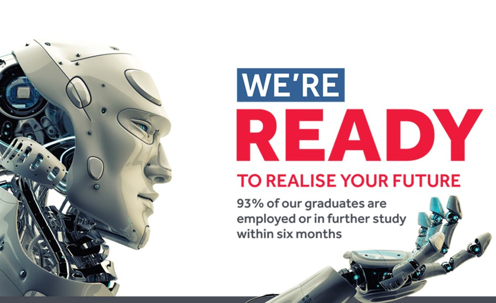 A recent advert for the University of Reading