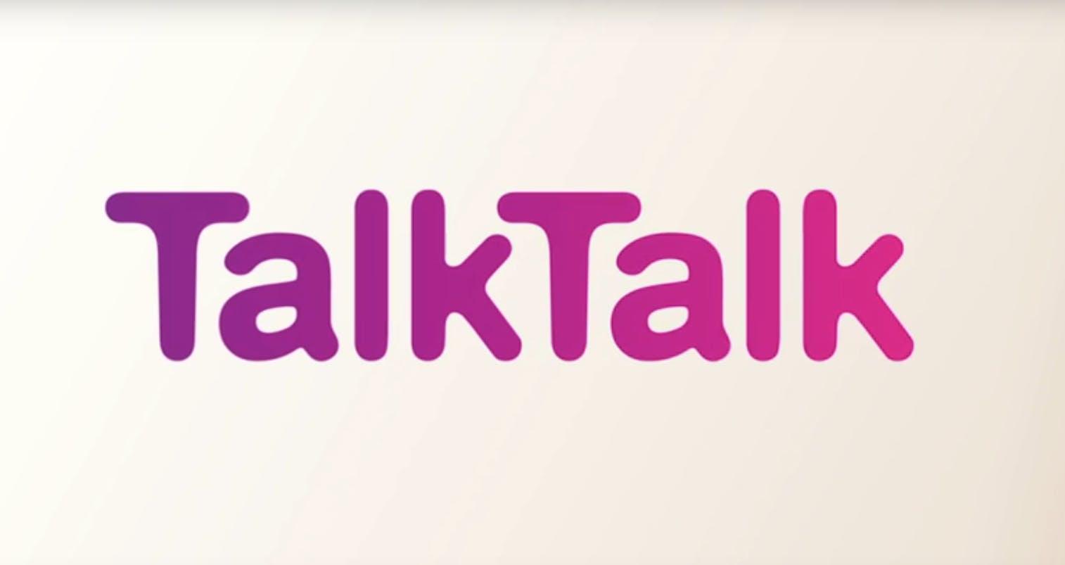 TalkTalk logo ad