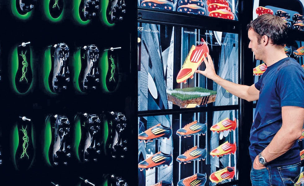 e0e08b08b9912 StartJG's 'virtual footwear wall' for Adidas is an all-inclusive consumer  experience that transforms the product into an immersive piece of tech