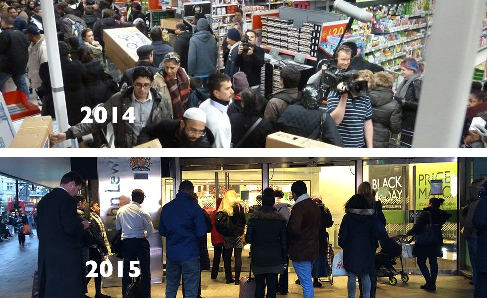 Black Friday 2015 v 2014