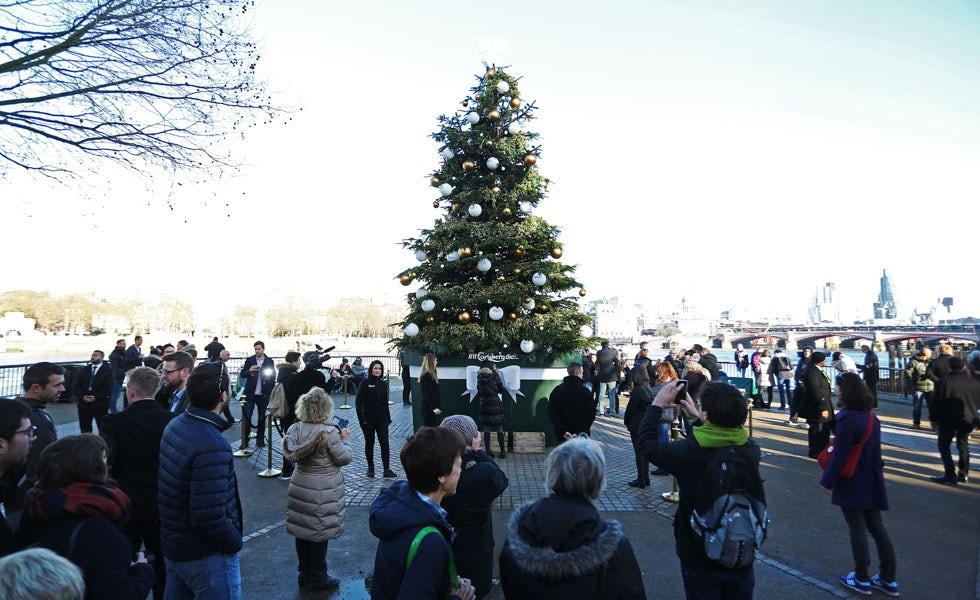 Carlsberg's Christmas tree