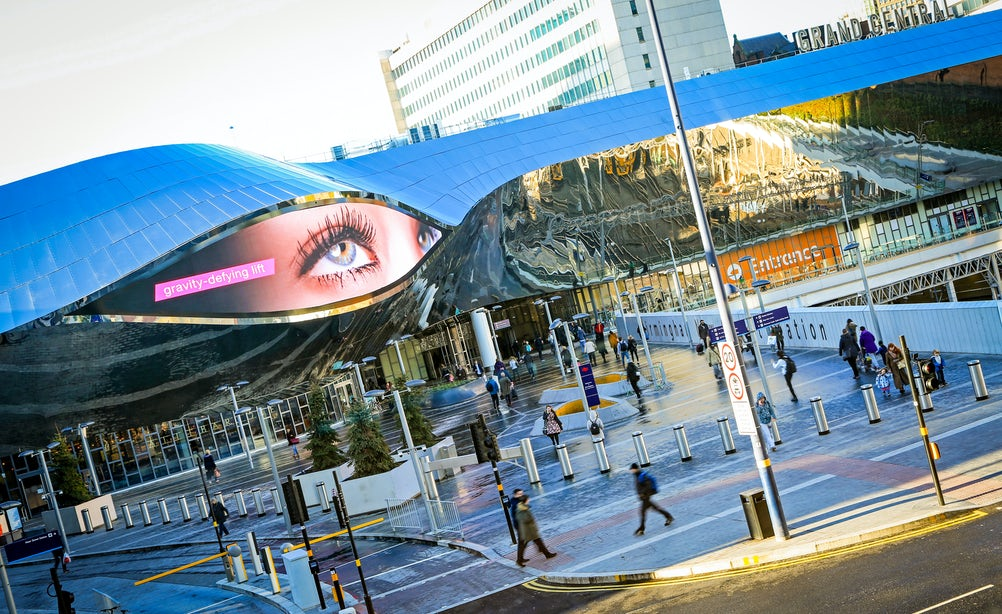 Ocean Outdoor's digital display in Birmingham can monitor passers-by