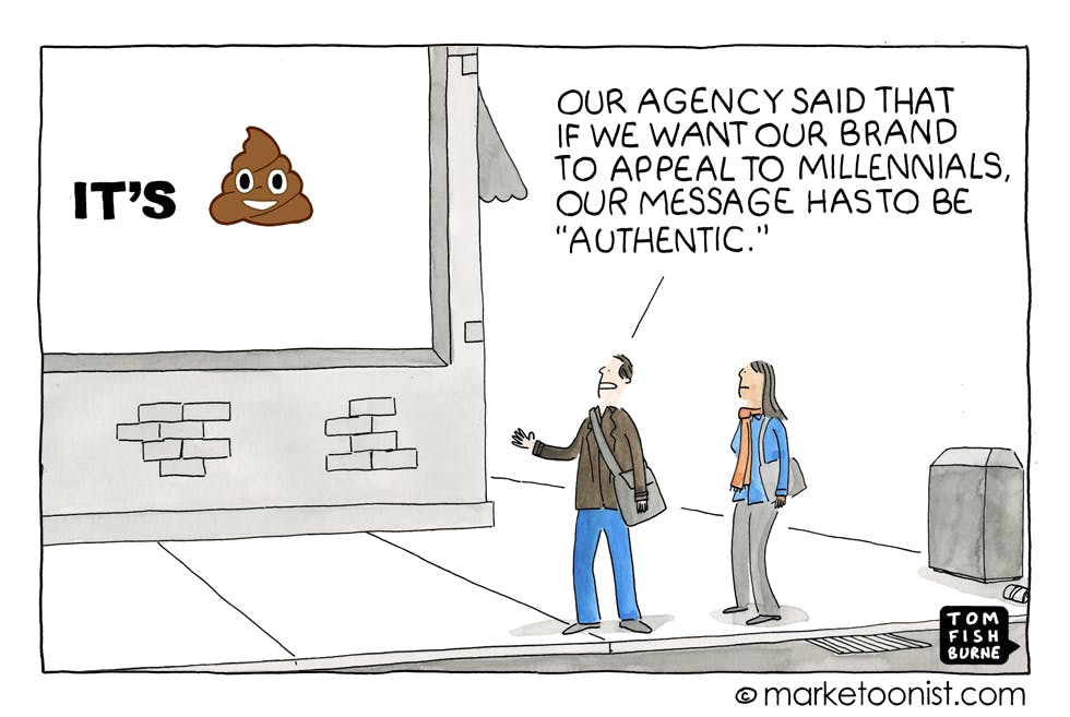Being authentic Marketoonist 27 1 16