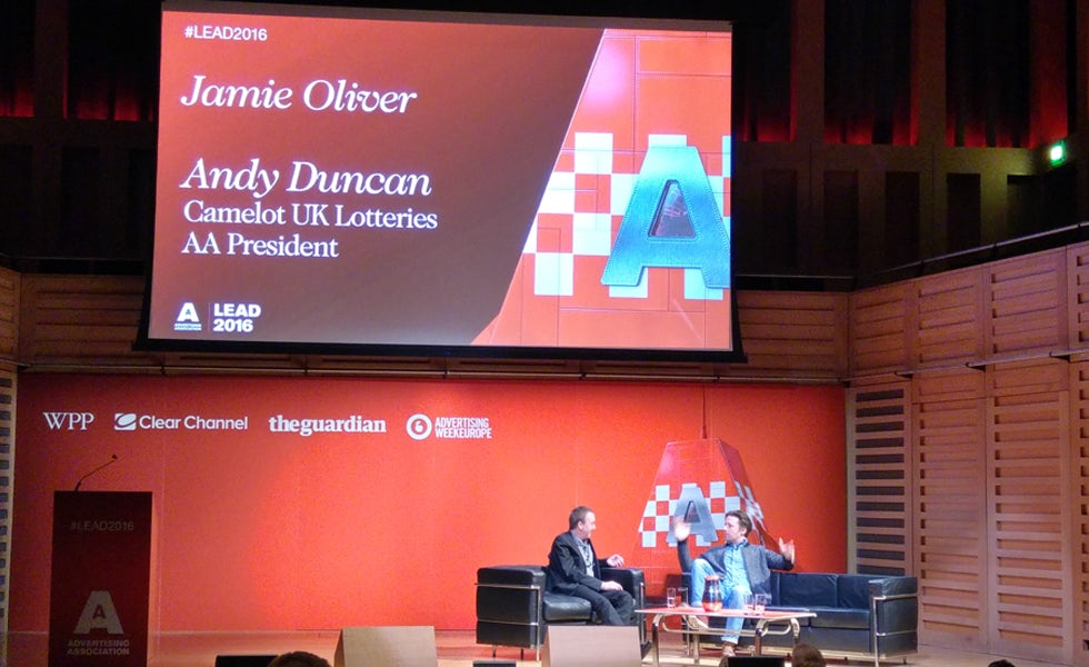 Jamie Oliver was speaking at the Ad Association's annual conference
