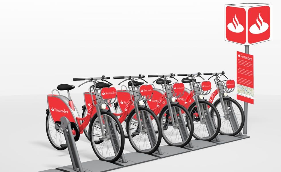 Santander is sponsoring a new cycle hire scheme in Milton Keynes