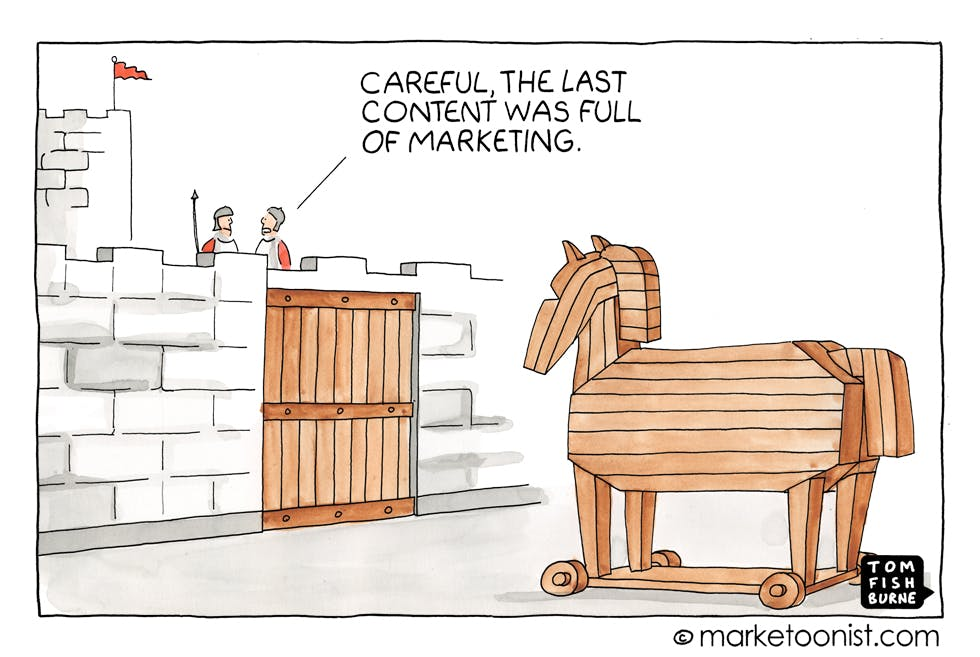 Brands bearing gifts Marketoonist 15 3 16