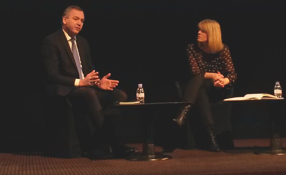 Asda CEO Andy Clarke in conversation with Channel 4 News business editor Siobhan Kennedy at Mumstock 2016
