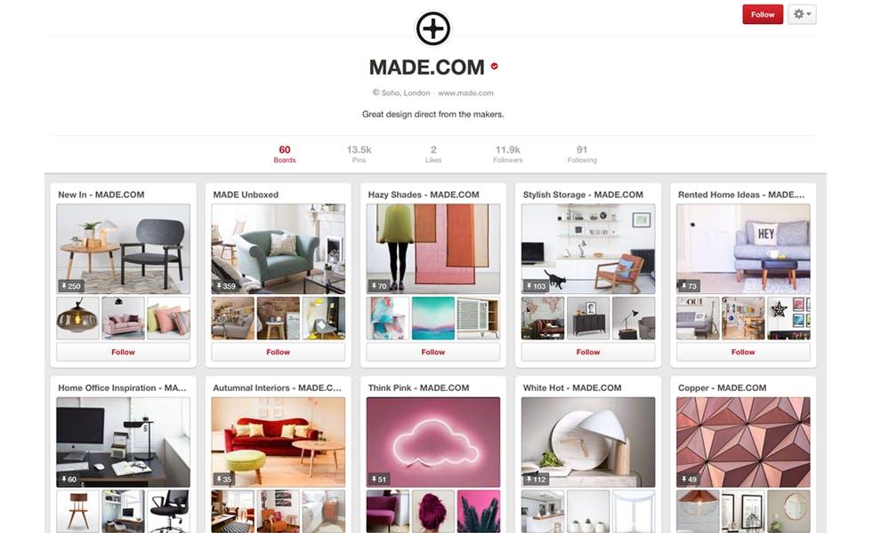 made.com pinterest