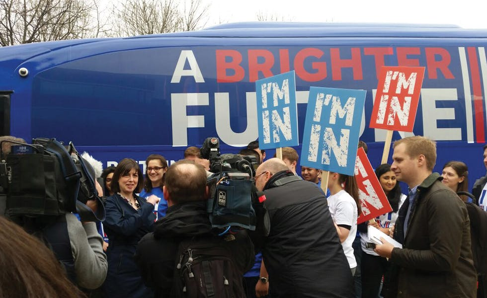 EU Remain campaign bus