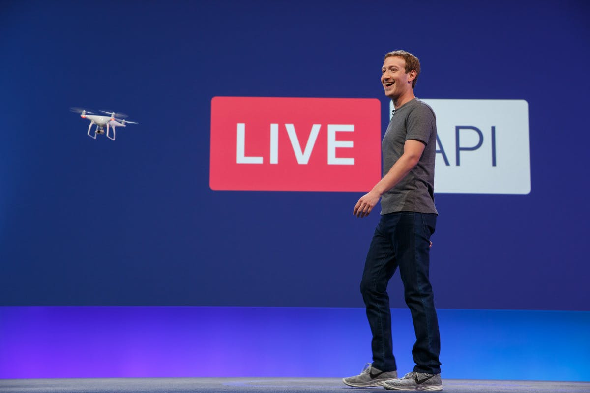 Facebook's CEO Mark Zuckerberg speaking at F8 yesterday (12 April)