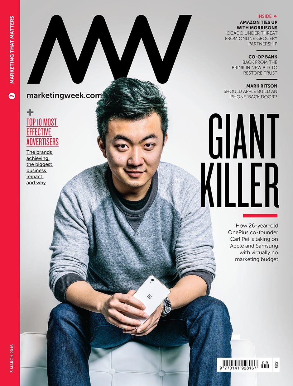 Marketing Week cover 03 03 16