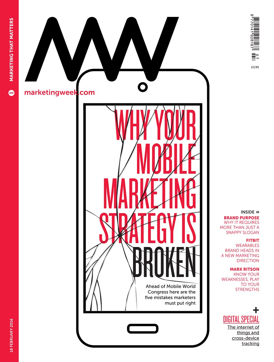 Marketing Week cover 18 02 16