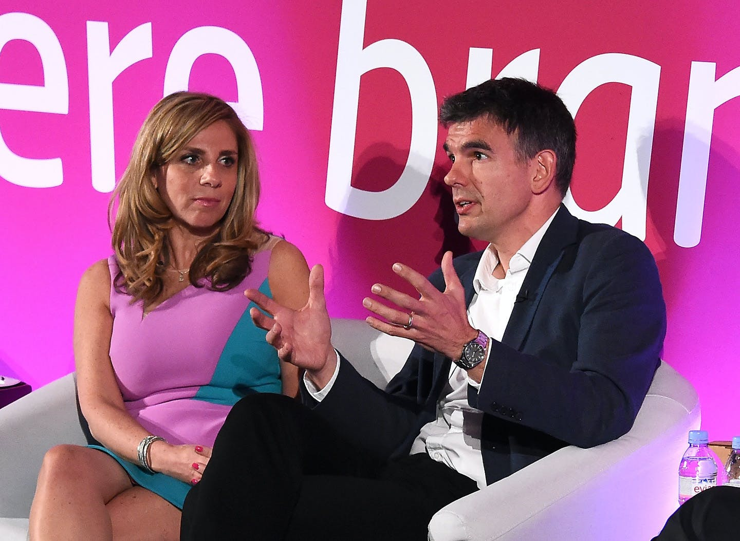 Nicola Mendelsohn CBE, vice-president EMEA Facebook and Matt Brittin, president, Google EMEA at Advertising Week Europe