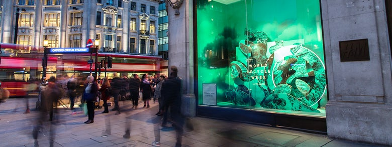 H&M shop window