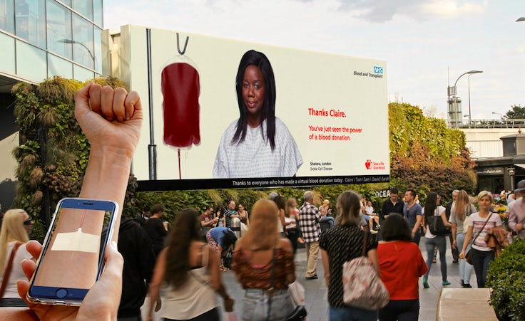 NHS launches first ever augmented reality billboard campaign to show