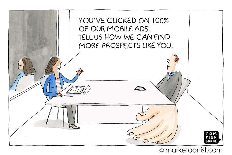 Finding the right prospects Marketoonist