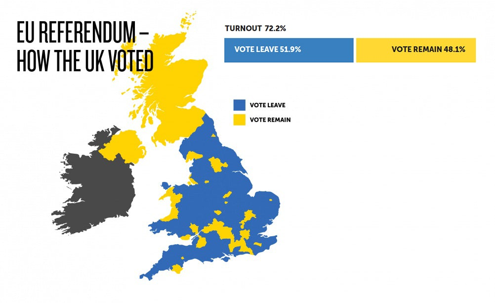 EU referendum vote map