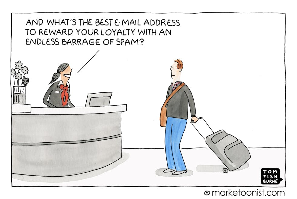 Email marketing Marketoonist