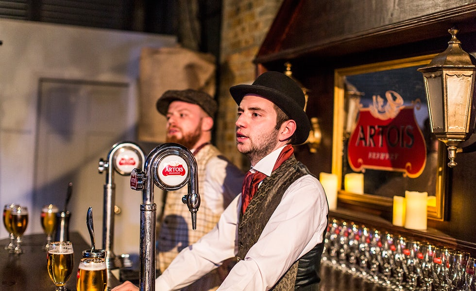 Stella's Time Portal experience was a collaboration between the beer brand, theatre company Les Enfants Terribles, visual effects specialists Framestore and Bompas & Parr.
