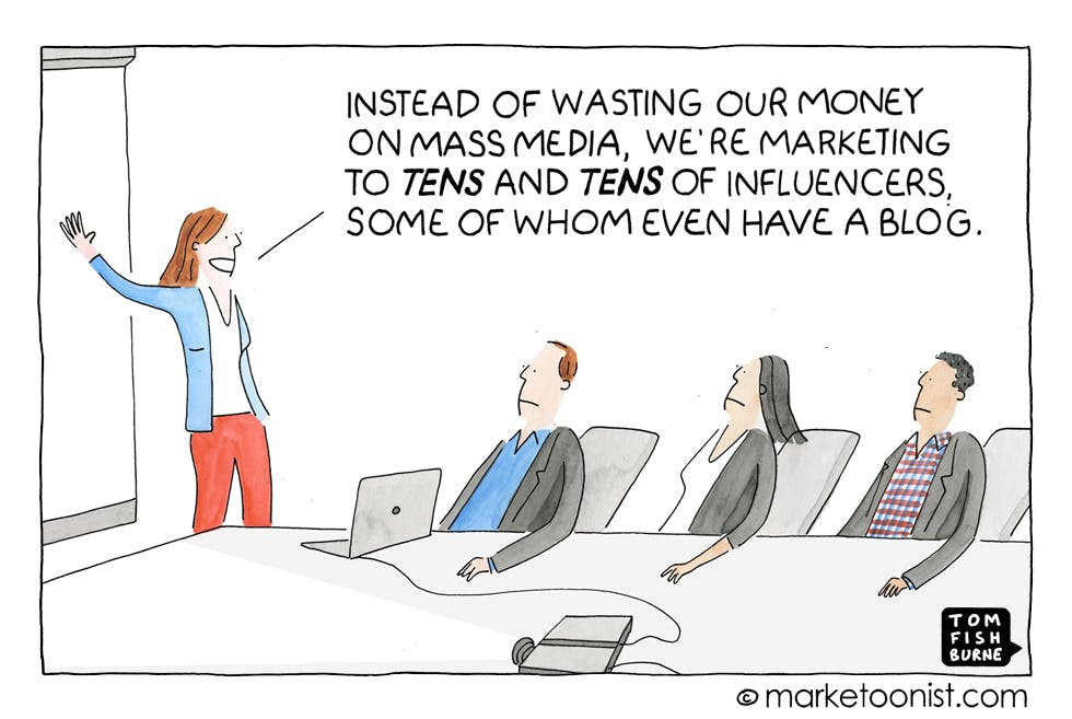 Influencer marketing, Marketoonist